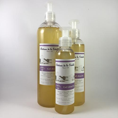 Lavender natural and organic shower gel from Provence hand made