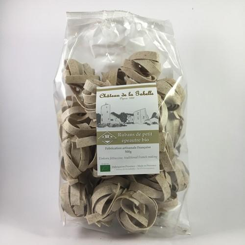 eggs free organic pasta for original recipe made of einkorn seed from Provence