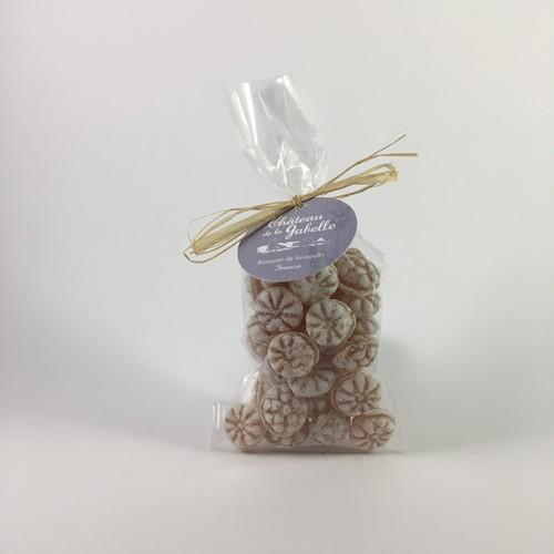 Honey and essential oil candy for natural treat with a taste of verbena