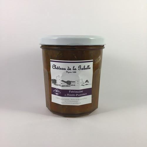 Apricot and lavender jam made in Provence recipe poor in sugar and excellent lavender taste