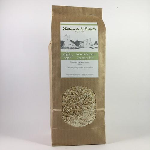 Organic einkorn flakes from Provence and Sault ideal for a gourmet and gluten free breakfast to start the day in a healthy way