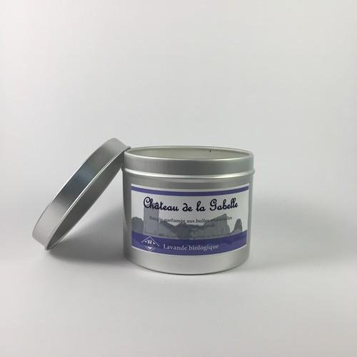 Lavender essential oil and soy wax scented candle organic and made in Provence