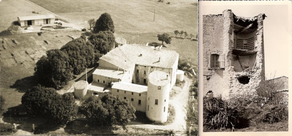 chateau de la gabelle photos anciennes de la batisse fortifiée en Provence au milieu des champs de lavande