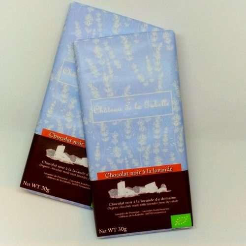 Chocolat bio à la lavande fabriqué en Belgique de qualité supérieure pour un cadeau gourmet petit prix tout droit venu de Provence en vente directe chez le producteur bio