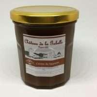Crème de marrons au sucre roux bio fabrication artisanale avec des châtaignes et à l'extrait naturel de vanille