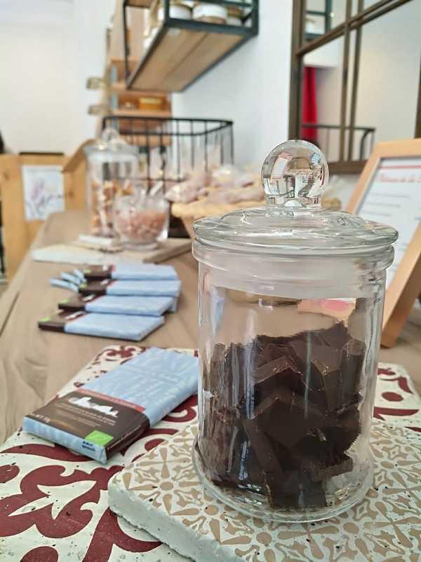 Chocolat à la lavande bio direct producteur boutique sault vaucluse en provence
