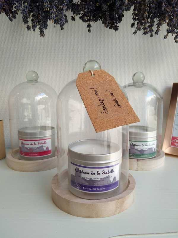 bougie parfumée lavande bio provence direct producteur à sault dans le vaucluse au coeur de la provence