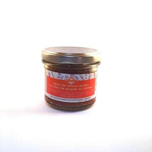 Prenez une pause gourmet avec notre délice de tomates séchées à la fleur de lavande bio.