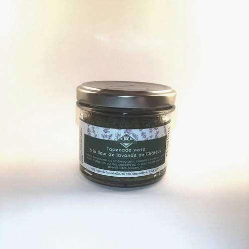 Tapenade verte bio de Provence à la fleur de lavande pour un apéritif original