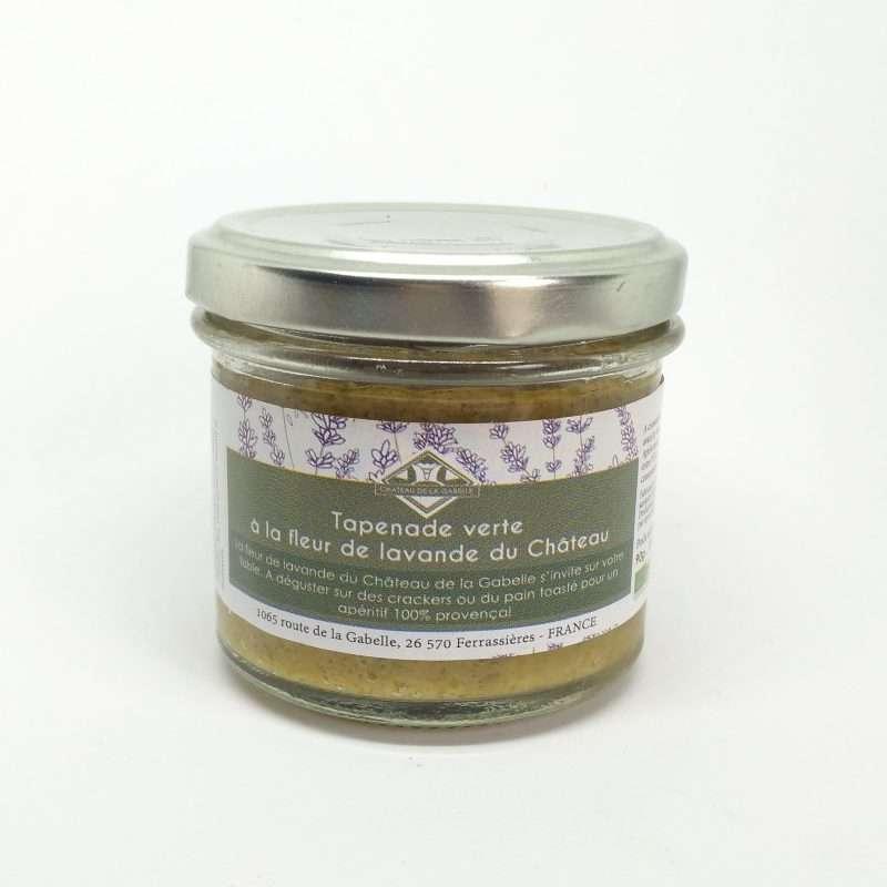 Tapenade BIO aux olives vertes et à la fleur de lavande de Provence pour mettre de l'originalité dans vos apéritifs
