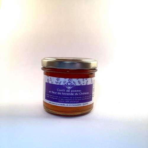 Une envie de mélange sucré/salé ? dégustez notre délicieux confit de pommes à la fleur de lavande bio produit en Provence !