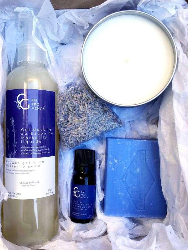 organic beauty lavender gift box