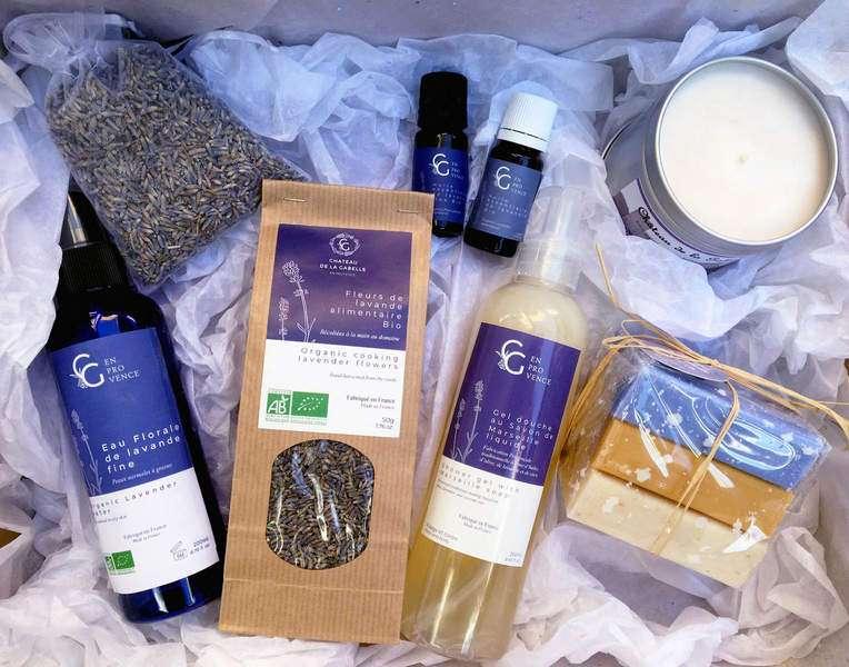 Coffret lavande de Provence direct au producteur pour préparer ses cosmétiques et faire plaisir aux amoureux de la provence