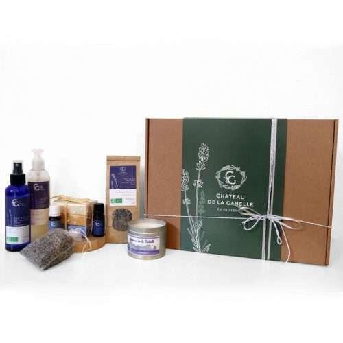 Coffret cadeau noel 2020 pour une détente et une sérénité qui tend vers le zen et le yoga afin de se ressourcer avec des produits naturels