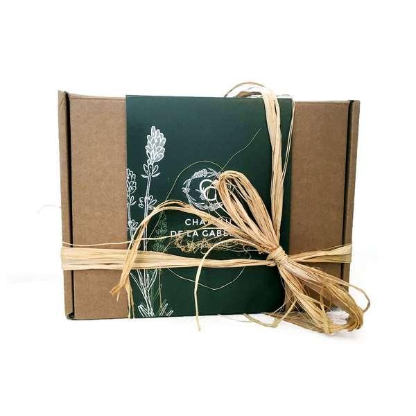 Assortiment de produits de Provence fabriqués localement pour un cadeau homme ou femme idéal pour la fête des mères et la fête des pères